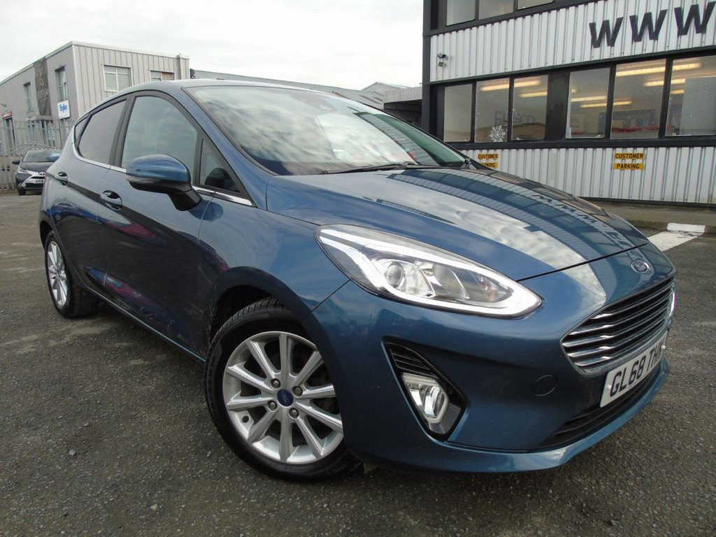 USED 2018 68 FORD FIESTA 1.0 TITANIUM 5d 99 BHP £202 a month, T&Cs apply.