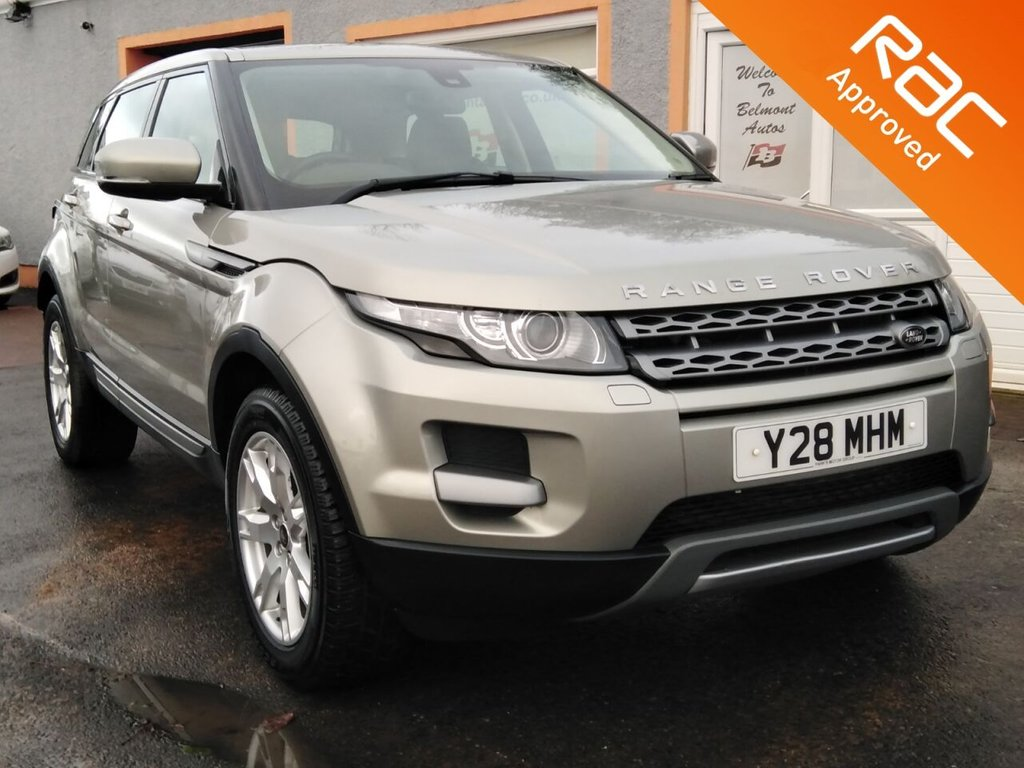 "USED 2013 63 LAND ROVER RANGE ROVER EVOQUE 2.2 SD4 PURE 5d 190 BHP 18"" Alloys, Full Leather, Bluetooth, Parking Sensors, ipod/aux/usb"