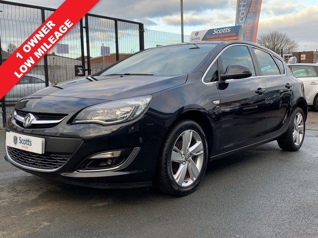 USED 2014 14 VAUXHALL ASTRA 1.4 SRI 5 DOOR BLACK 1 OWNER 12 MONTHS MOT AIR CONDITIONING