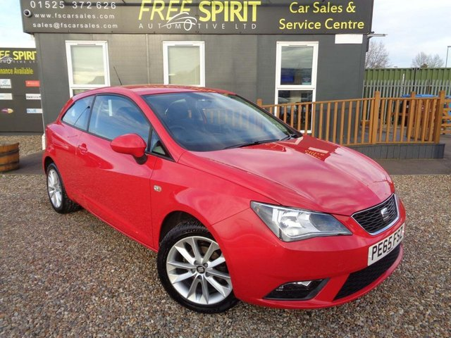 USED 2015 65 SEAT IBIZA 1.4 16v Toca SportCoupe 3dr Nav, Bluetooth, 1 Owner