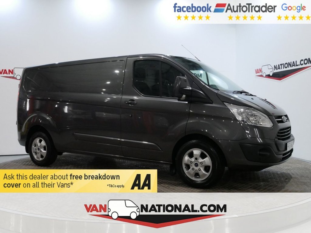 USED 2017 67 FORD TRANSIT CUSTOM 2.0 290 LIMITED 130 BHP L2 *SAT NAV*AIR CON*EURO 6*GREY*LWB * ONE OWNER * EURO 6 * LWB * NAV * ZERO DEPOSIT FINANCE AVAILABLE *
