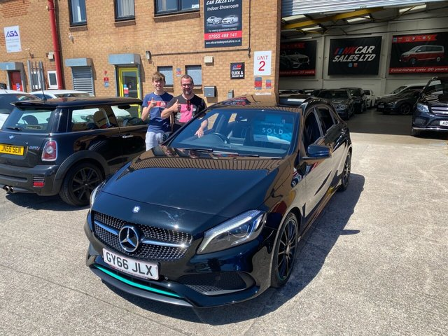 2016 66 MERCEDES-BENZ A-CLASS 2.1 A 220 D MOTORSPORT EDITION PREMIUM SOLD TO DALE FROM BARNSLEY