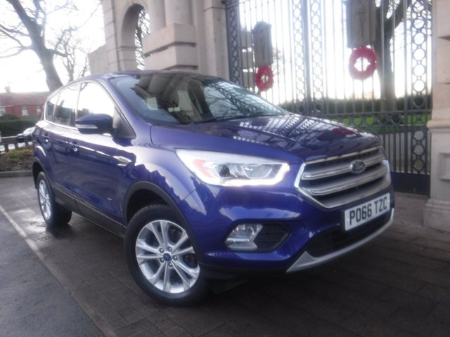 USED 2017 66 FORD KUGA 1.5 Eco Boost Titanium AWD 5dr 4WD*PART LEATHER*NAV*CRUISE*FULL FORD SERVICE HISTORY