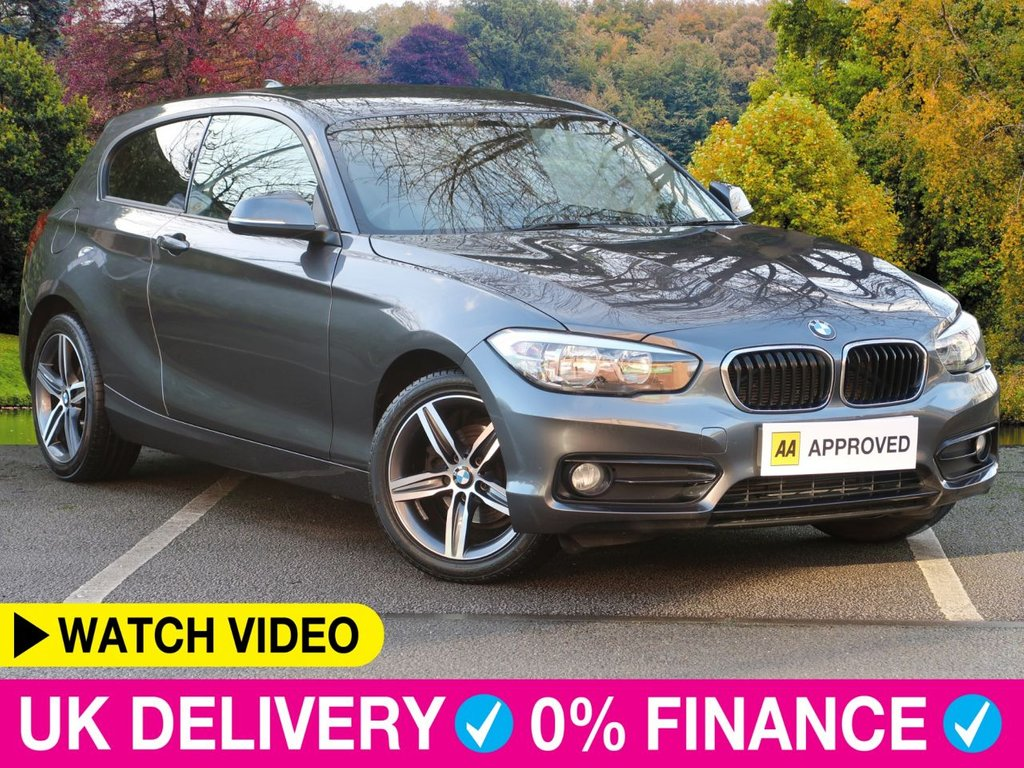 USED 2017 66 BMW 1 SERIES 118i Sport 3dr 1.5 Sat Nav Park Assist Sat Nav Park Assist Bluetooth