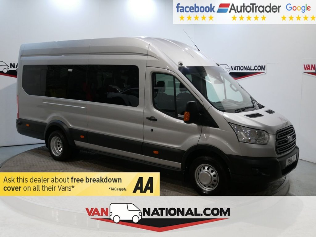 USED 2018 18 FORD TRANSIT 2.2 460 TREND H/R BUS 17 STR 125 BHP *AIR CON * EURO 6* * ONE OWNER * EURO 6 * 17 SEATS * ZERO DEPOSIT FINANCE AVAILABLE *