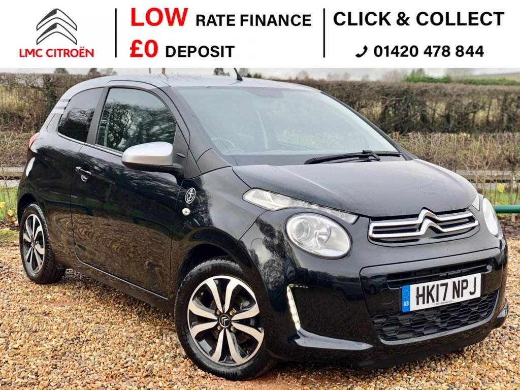USED 2017 17 CITROEN C1 1.2 PURETECH FLAIR EDITION 3d 82 BHP ***LEATHER, REAR CAMERA***