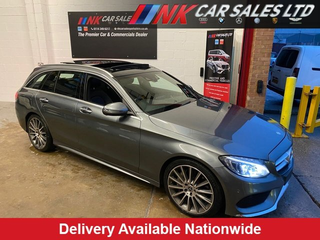 USED 2017 17 MERCEDES-BENZ C-CLASS 2.1 C300 H AMG LINE PREMIUM 5d 204 BHP FULL MERCEDES BENZ SERVICE HISTORY PAN ROOF  SAT NAV HEATED SEATS