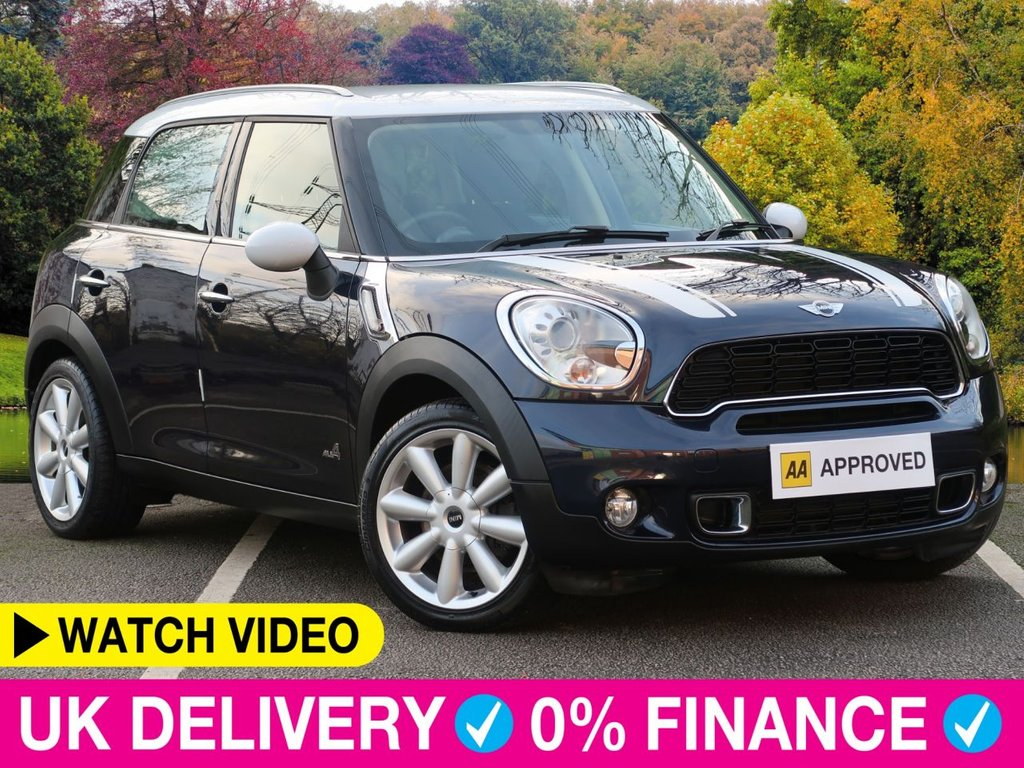 USED 2014 14 MINI COUNTRYMAN 1.6 Cooper S ALL4 5dr Leather Chili Pack Leather Seats Chili Stripes