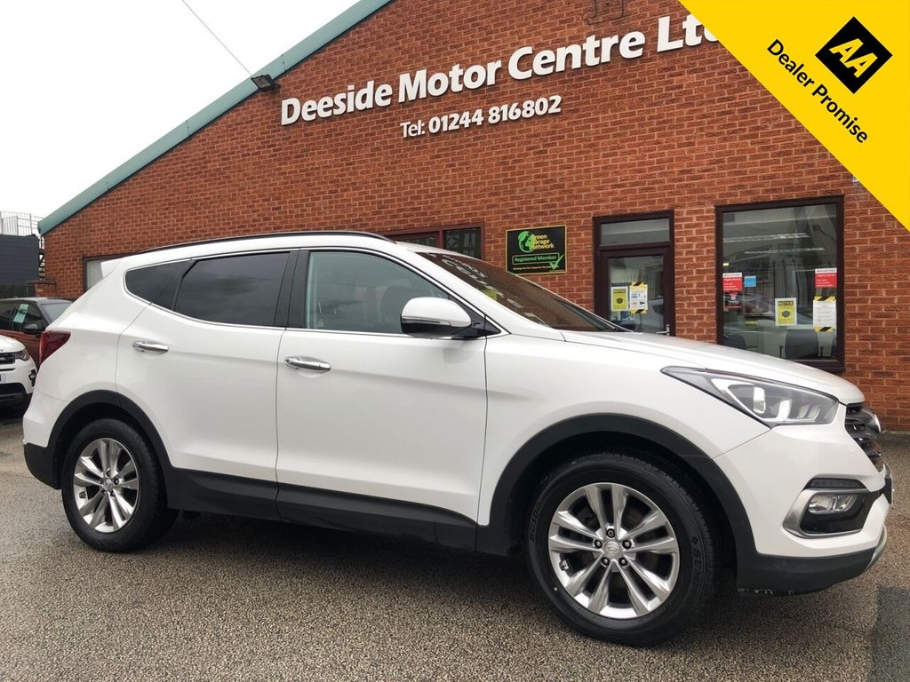 USED 2016 16 HYUNDAI SANTA FE 2.2 CRDI PREMIUM BLUE DRIVE 5d 197 BHP Hyundai service history : Bluetooth : Sat Nav : DAB Radio : Wi-Fi : Full leather upholstery : Electric driver's seat : Heated front + rear seats : Cargo/Load cover : Rear view camera : Front + rear parking sensors :