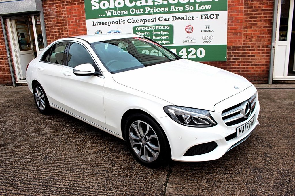 USED 2017 17 MERCEDES-BENZ C-CLASS 1.6 C200 D SPORT 4d 136 BHP +REVERSE CAMERA +LEATHER +NAV.