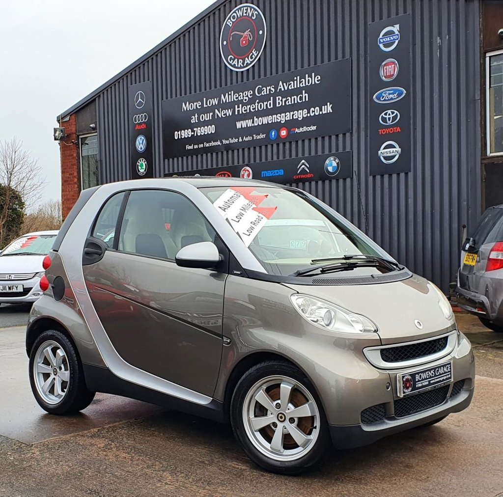 USED 2009 59 SMART FORTWO 1.0 PASSION 2D AUTO 84 BHP AUTO - £30 Road Tax - Low Miles - 10 Services
