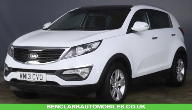2013 13 KIA SPORTAGE 1.6 GDi 2 2WD ISG 5d 133 BHP ECO DYNAMIC 'ONLY 46,600 MILES//X7 SERVICE STAMPS//PANORAMIC SUNROOF//1/2 LEATHER//CRUISE //BLUETOOTH//REAR PARK ASSIST