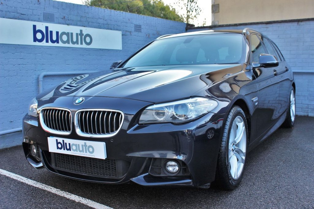 USED 2017 17 BMW 5 SERIES 2.0 520D M SPORT 4d 188 BHP Front & Rear Sensors, Heated Leather Electric Seats, Satellite Navigation...........