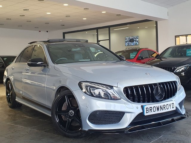 USED 2015 65 MERCEDES-BENZ C-CLASS 2.1 C250 D AMG LINE PREMIUM PLUS 4d 204 BHP BRM BODY STYLING+PAN ROOF