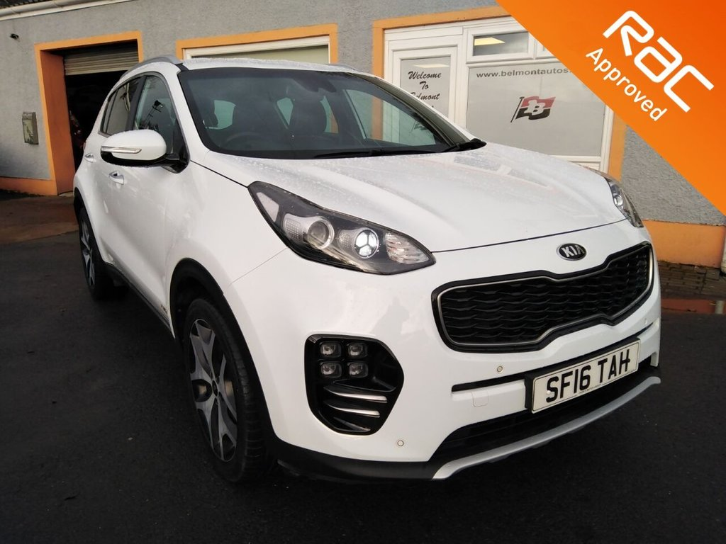 "USED 2016 16 KIA SPORTAGE 1.6 GT-LINE 5d 174 BHP Touchscreen Colour Sat Nav, Parking Sensors, 2 Tone Leather, 19"" Alloys"