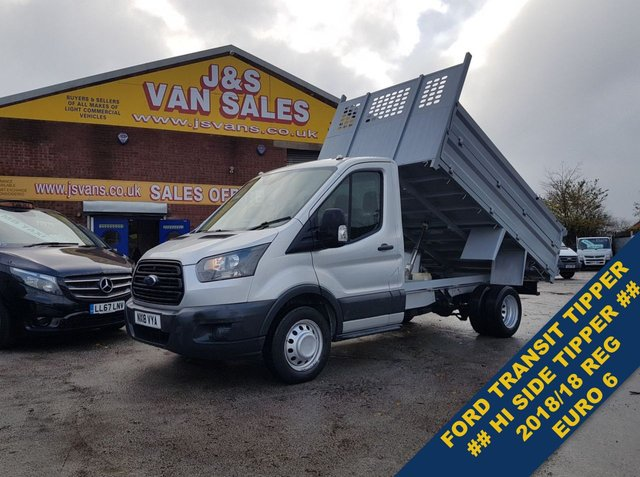 USED 2018 18 FORD TRANSIT TIPPER TRUCK EURO 6 TWIN WHEEL PICKUP  BIG STOCK EURO 6 OVER TIPPER VANS OVER 100 ON SITE