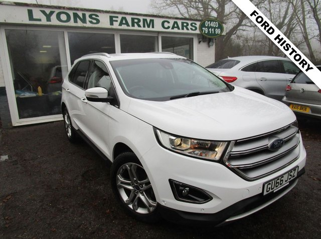 USED 2016 66 FORD EDGE 2.0 TITANIUM TDCI 5d 177 BHP Ford Service History + Just Serviced, One Previous Owner, MOT until September 2021