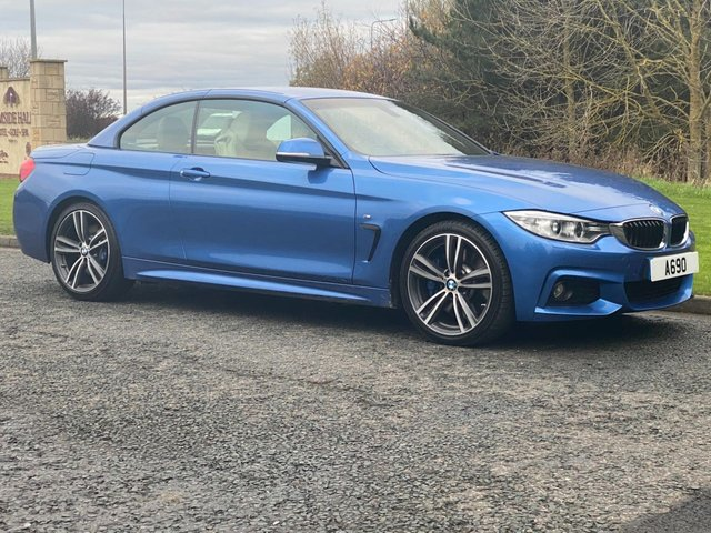USED 2015 65 BMW 4 SERIES 3.0 430D M SPORT 2d AUTO 255 BHP CONVERTIBLE AUTO Vario Roof Convertible Coupe