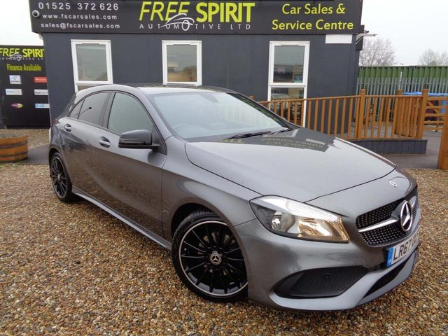 USED 2017 67 MERCEDES-BENZ A-CLASS 1.6 A180 AMG Line 7G-DCT (s/s) 5dr Rear Camera, Apple Car Play