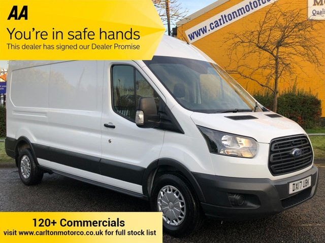 2017 17 FORD TRANSIT 350 TDCi 130 L3 H3 * Air Con * LWB HIGH ROOF P/V FWD