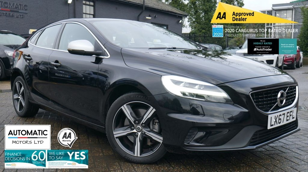 USED 2017 67 VOLVO V40 1.5 T3 R-DESIGN NAV PLUS 5d 150 BHP 2017 VOLVO V40 1.5 T3 R-DESIGN NAV PLUS 1 OWNER 2 KEYS ULEZ NAVIGATION