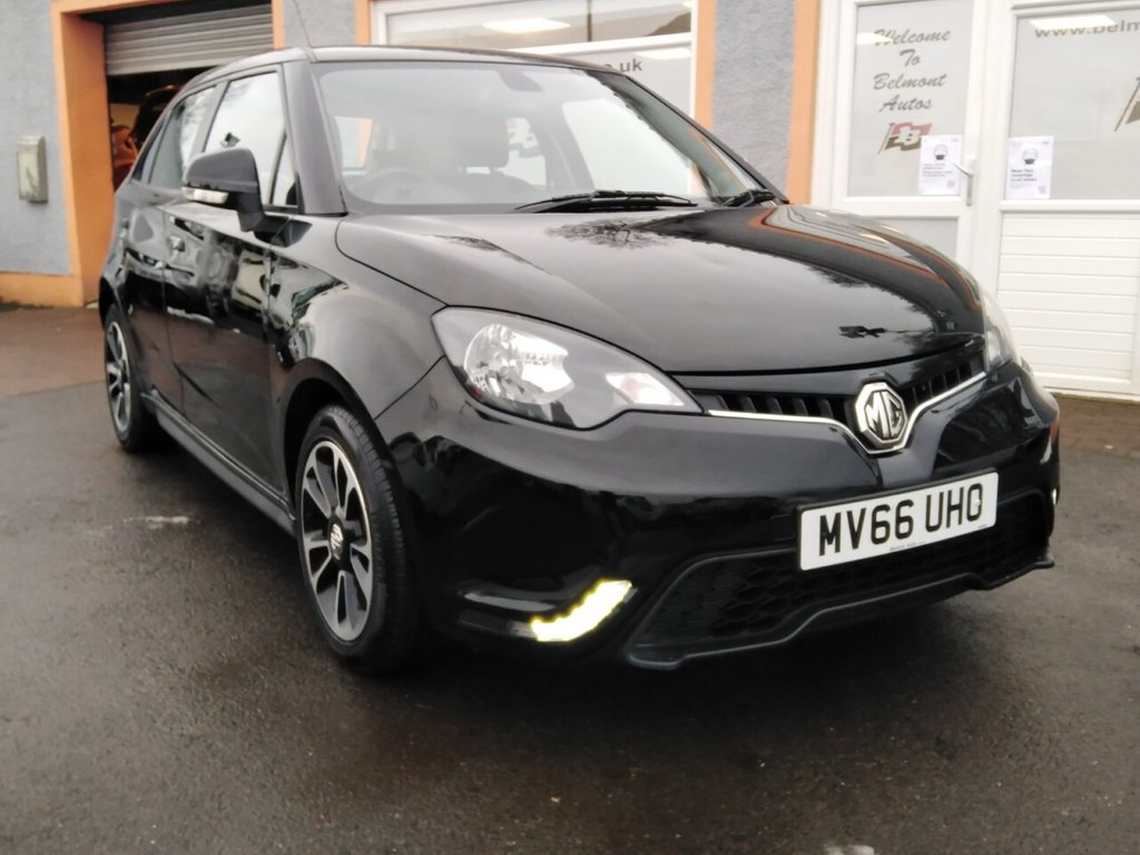 "USED 2016 66 MG 3 1.5 3 STYLE LUX VTI-TECH 5d 106 BHP Black Stitched leather, Bluetooth, Parking Sensors, 16"" Alloys"