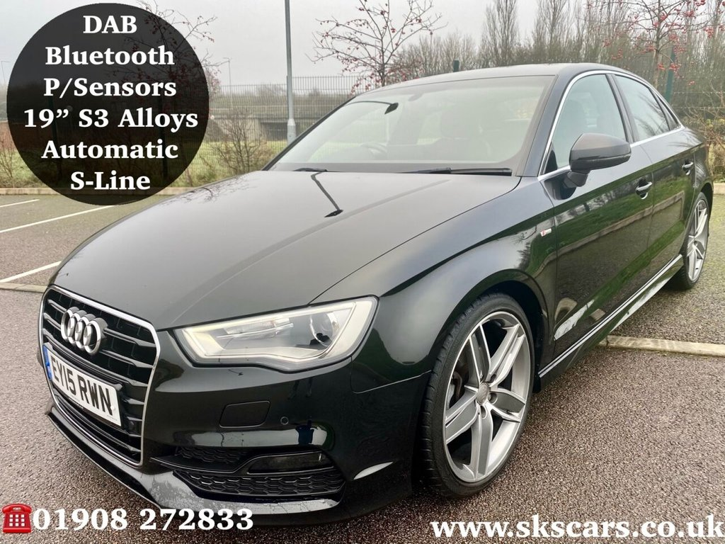 USED 2015 15 AUDI A3 1.4 TFSI S LINE 4d 148 BHP **12 MONTHS NATIONAL WARRANTY**
