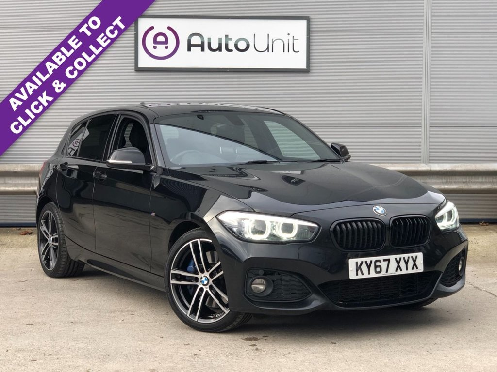 USED 2017 67 BMW 1 SERIES 2.0 120D M SPORT SHADOW EDITION 5d 188 BHP FULL BMW SERVICE HISTORY + SAT NAV + DAB + BLUETOOTH + CLIAMTE + AUTOMATIC LED HEADLIGHTS