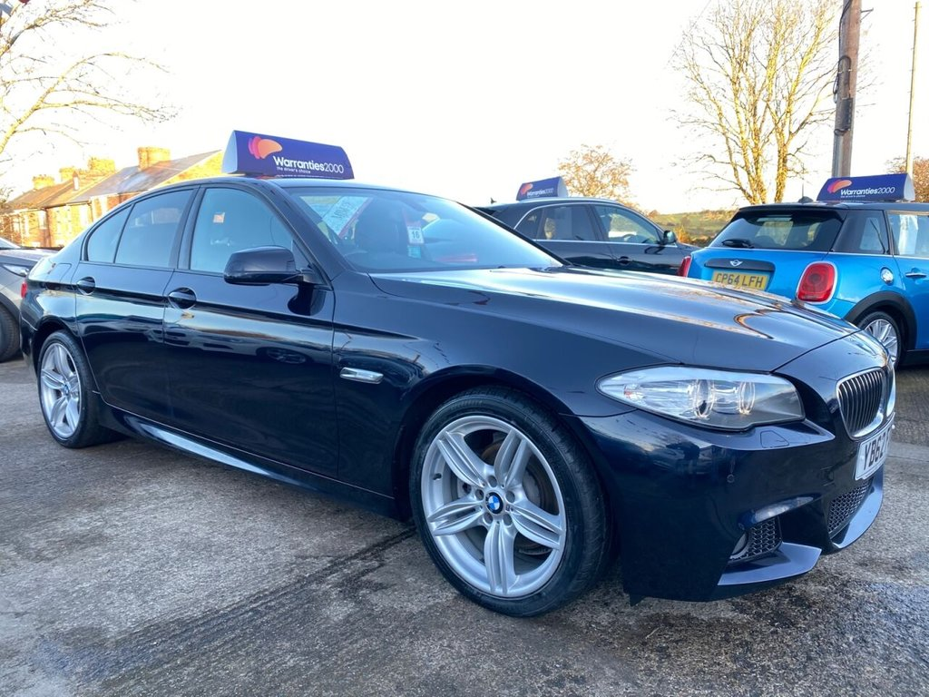 USED 2012 62 BMW 5 SERIES 2.0 520D M SPORT 4d 181 BHP * HEATED LEATHER * SAT NAV * BLUETOOTH *  STUNNING THROUGHOUT *