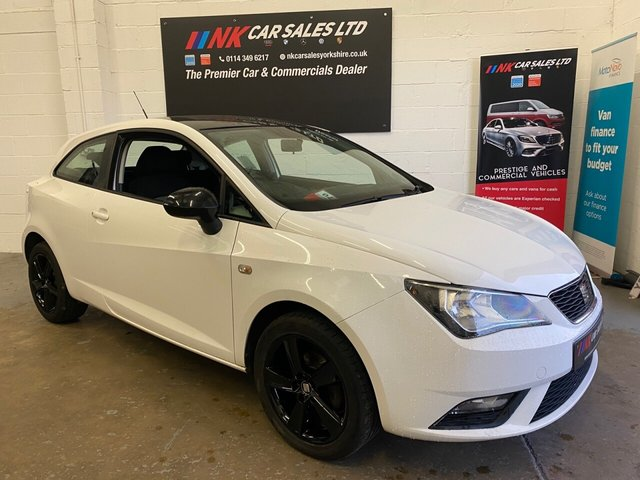 USED 2014 14 SEAT IBIZA 1.4L TOCA 3d 85 BHP FULL SEAT MAIN DEALER HISTORY 1 OWNER FROM NEW BLACK ROOF BLACK MIRROR CAPS