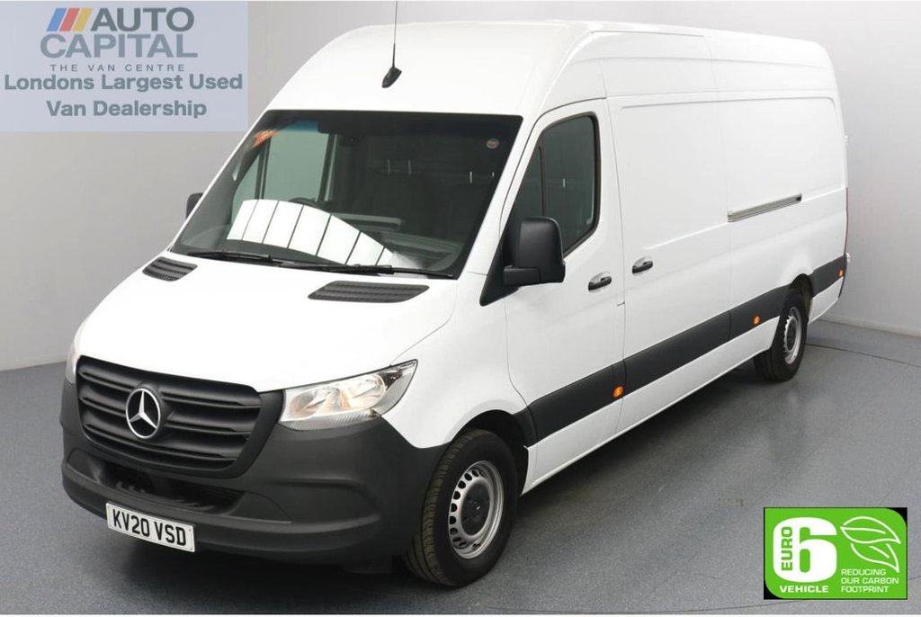 USED 2020 20 MERCEDES-BENZ SPRINTER 2.1 314 CDI RWD 141 BHP L3 H2 LWB Euro 6 Low Emission Finance Available Online | Keyless Go | Rear Wheel Drive | UK Delivery