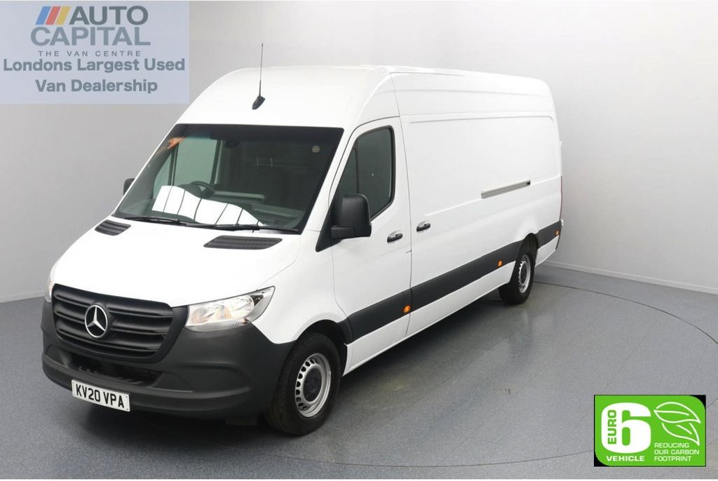 USED 2020 20 MERCEDES-BENZ SPRINTER 2.1 314 CDI RWD 141 BHP L3 H2 LWB Euro 6 Low Emission Finance Available Online | Keyless Go | Rear Wheel Drive | LWB | UK Delivery