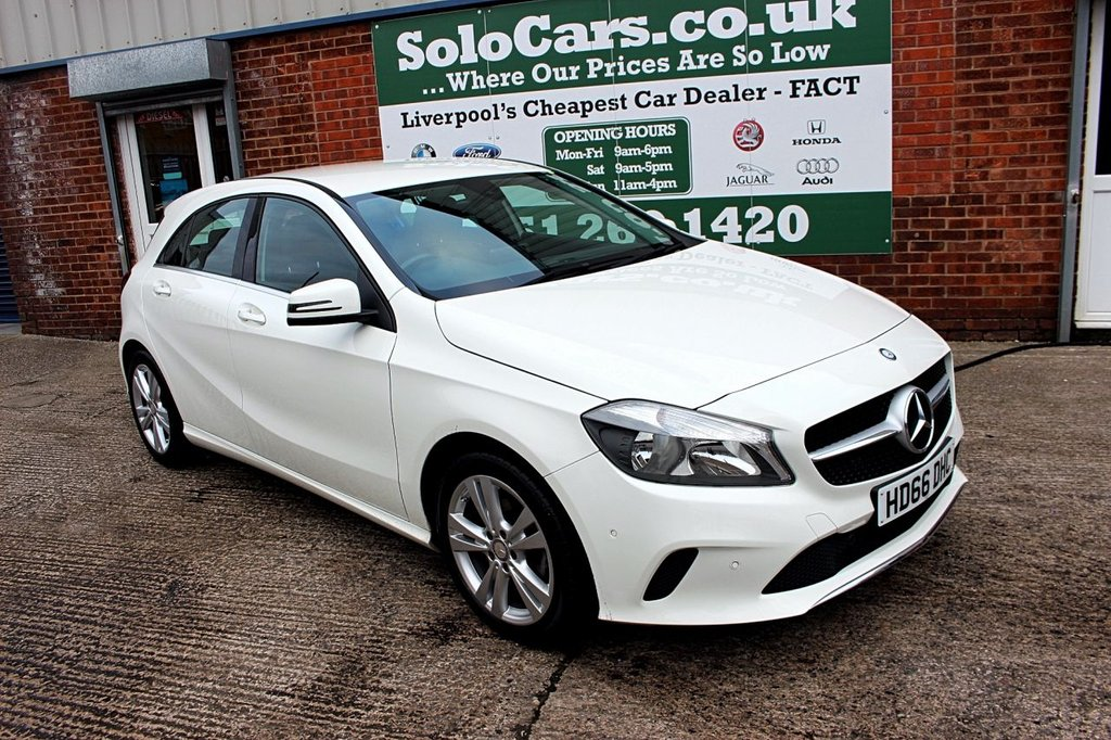 USED 2016 66 MERCEDES-BENZ A-CLASS 1.6 A 180 SPORT EXECUTIVE 5d AUTO 121 BHP +AUTO +LEATHER +SAT NAV.
