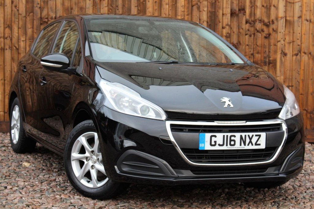 USED 2016 16 PEUGEOT 208 1.2 PureTech Active 5dr 1 YEAR WARRANTY + FULL SERVICE HISTORY + 12 MONTHS MOT