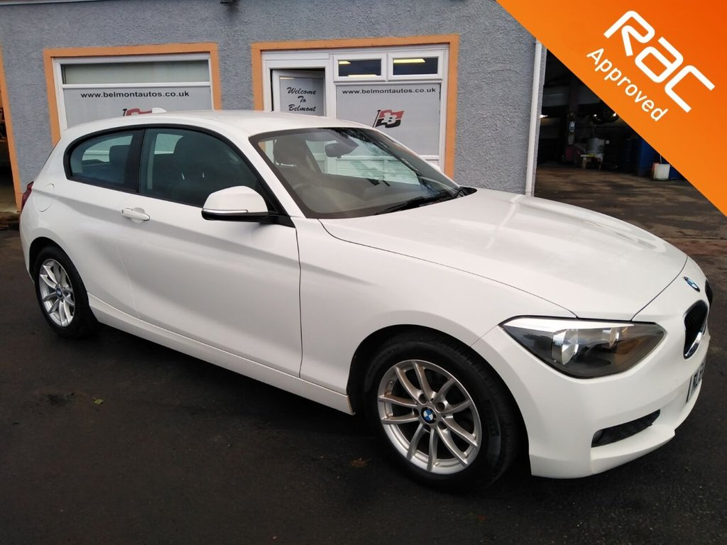 "USED 2014 64 BMW 1 SERIES 1.6 116D EFFICIENTDYNAMICS 3d 114 BHP 16"" Alloys, Bluetooth Technology, Cruise Control, Aux/USB Point"