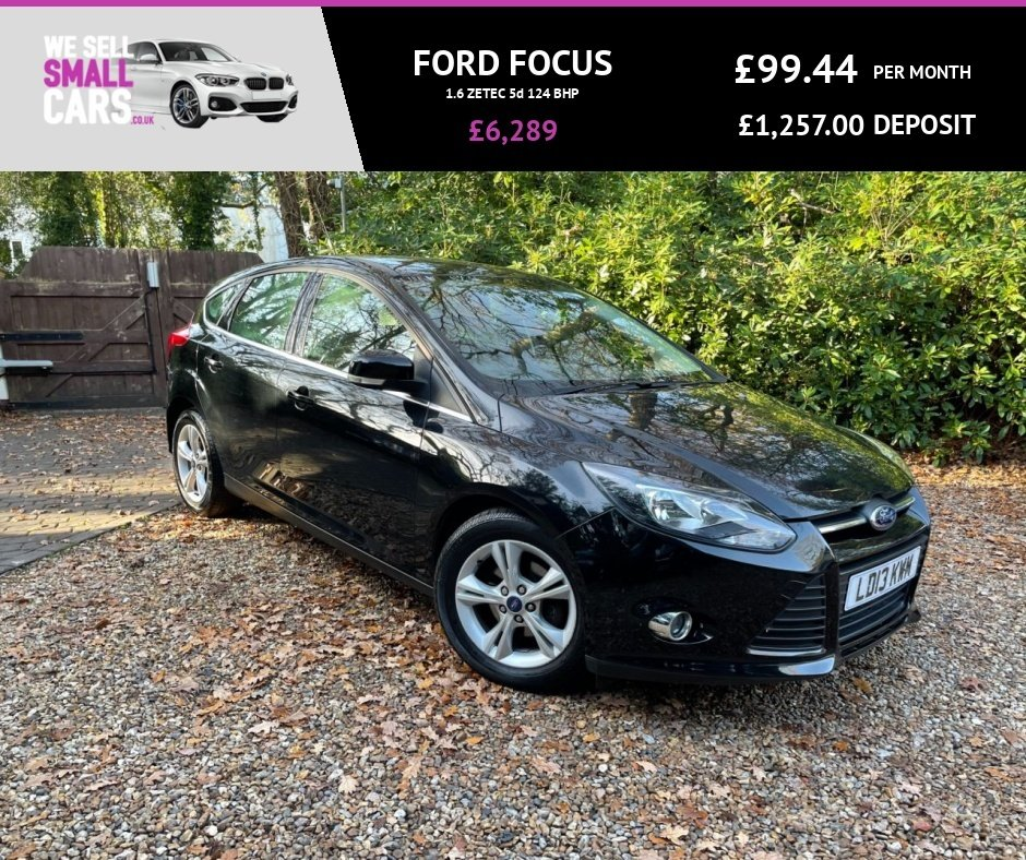 USED 2013 13 FORD FOCUS 1.6 ZETEC 5d 124 BHP LOW MILES FULL SERVICE HISTORY ALLOYS BLUETOOTH PHONE CLIMATE CONTROL