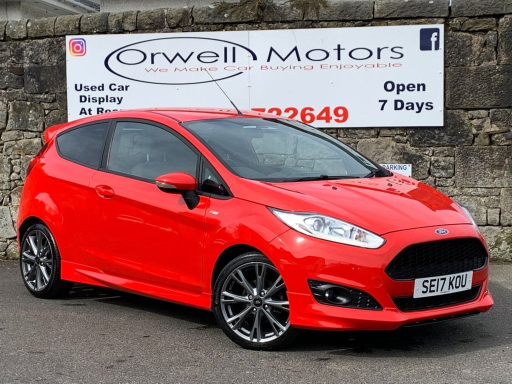 USED 2017 17 FORD FIESTA 1.0 ST-LINE 3d 100 BHP 2 OWNERS+LOW RATE FINANCE AVAILABLE+LOW MILEAGE+LOW COST INSURANCE