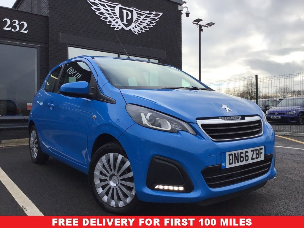 USED 2016 66 PEUGEOT 108 1.0 ACTIVE 3d 68 BHP WARRANTY,  MOT AND SERVICE INC