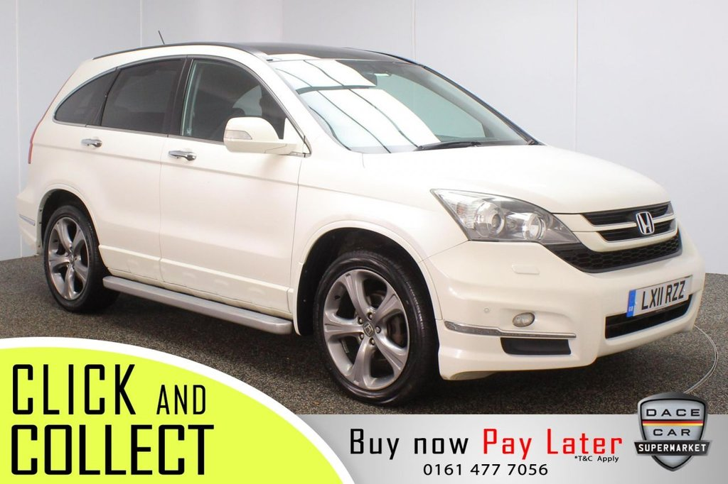 USED 2011 11 HONDA CR-V 2.2 I-DTEC EX 5DR 148 BHP SERVICE HISTORY + HEATED LEATHER SEATS + PANORAMIC ROOF + SATELLITE NAVIGATION + REVERSING CAMERA + PARKING SENSOR + BLUETOOTH + CRUISE CONTROL + CLIMATE CONTROL + MULTI FUNCTION WHEEL + SIDE STEPS + XENON HEADLIGHTS + PRIVACY GLASS + ELECTRIC FRONT SEATS + ELECTRIC WINDOWS + ELECTRIC/HEATED/FOLDING DOOR MIRRORS + 19 INCH ALLOY WHEELS
