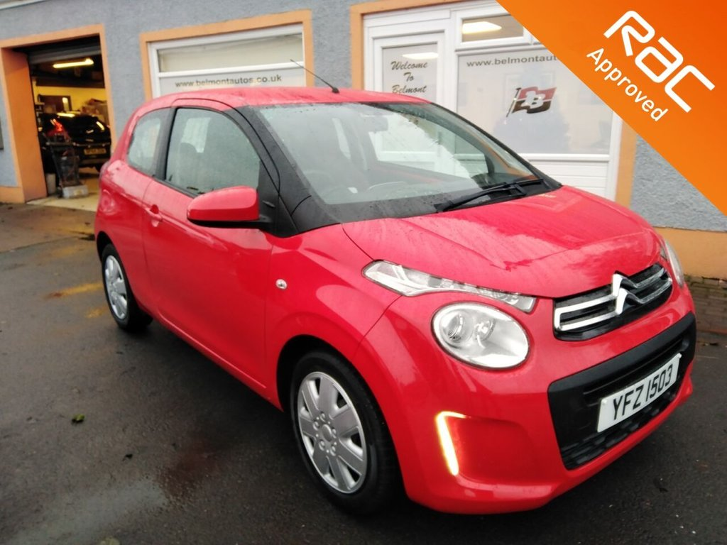 USED 2015 CITROEN C1 1.0 FEEL 3d 68 BHP Bluetooth, USB/AUX/MP3, 2 Service Stamps, Only 27000 miles