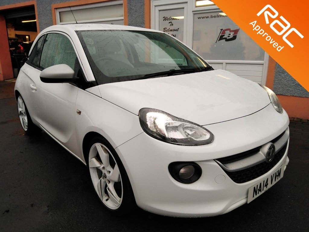 USED 2014 14 VAUXHALL ADAM 1.4 WHITE EDITION 3d 85 BHP White Edition, Half leather, Bluetooth, Phone projection, On Screen Apps, Cruise Control
