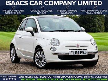 2014 FIAT 500 1.2 LOUNGE 3d 69 BHP £5195.00