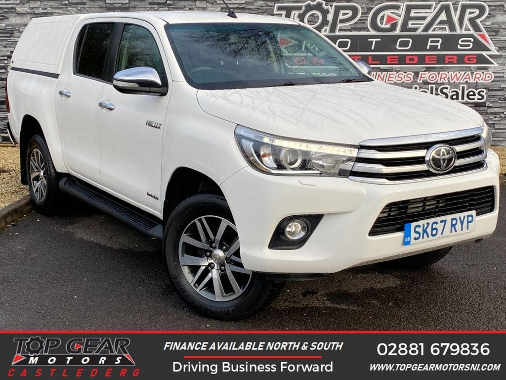 USED 2017 67 TOYOTA HI-LUX 2.4 D-4D 150BHP INVINCIBLE 4WD CANOPY ** A/C, SAT NAV, TRUCKMAN CANOPY ** OVER 90 VEHICLES IN STOCK