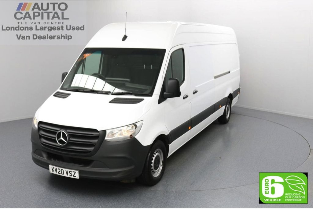 USED 2020 20 MERCEDES-BENZ SPRINTER 2.1 314 CDI RWD 141 BHP L3 H2 LWB Euro 6 Low Emission Apple CarPlay | Android Auto | MBUX Multimedia | 7-Inch Touch Screen | Active Brake Assist | Keyless Go | Auto Start-Stop system