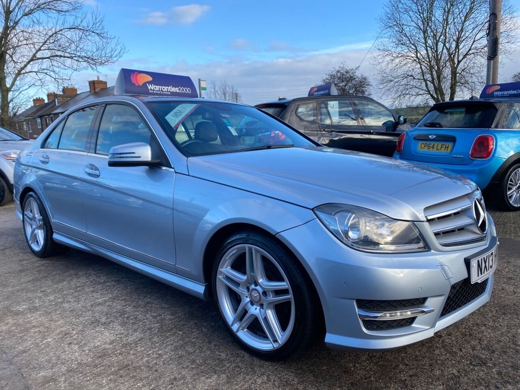 USED 2013 13 MERCEDES-BENZ C-CLASS 2.1 C220 CDI BLUEEFFICIENCY AMG SPORT 4d 168 BHP  * SAT NAV * HALF LEATHER * BLUETOOTH * STUNNING THROUGHOUT *