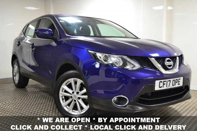 USED 2017 17 NISSAN QASHQAI 1.5 DCI ACENTA SMART VISION 5d 108 BHP STUNNING QASHQAI IN BLUE