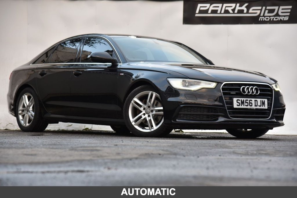 USED 2014 56 AUDI A6 3.0 TDI QUATTRO S LINE 4d 201 BHP Automatic | Metallic Paint | Full Service History | Satellite Navigation | Park Assist | Heated Seats | 12 M MOT