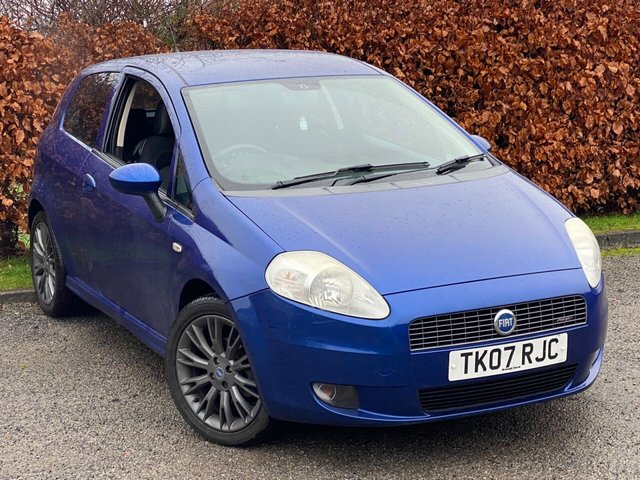USED 2007 07 FIAT GRANDE PUNTO 1.4 SPORTING 16V 3d 94 BHP RECENTLY SERVICED, MOT UNTIL NOVEMBER 2021, BLUETOOTH, ELECTRIC MIRRORS