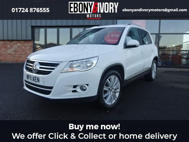 USED 2011 11 VOLKSWAGEN TIGUAN 2.0 MATCH TDI 4MOTION 5d 138 BHP + FULL SERVICE HISTORY + 1 YEAR MOT AND BREAKDOWN COVER