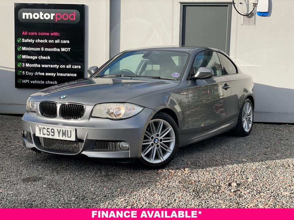 USED 2009 59 BMW 1 SERIES 2.0 118D M SPORT 2d 141 BHP COMPREHENSIVE SERVICE HISTORY + FRONT & REAR PARKING SENSORS + HEATED LEATHER SEATS + £30 TAX